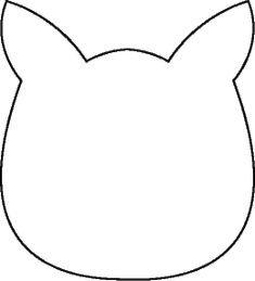 best cat head template I have found. Use for Pete the cat or other cat books