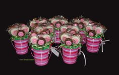 Oreo daisy pink striped baskets by Simply Sweets, via Flickr
