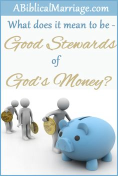 A great article on working together in marriage for Gods glory and being good stewards of HIS money! From my favorite Christian Marriage blog: ABiblicalMarriage.com