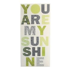 Visit www.yearsoflove to discover more 11th anniversary gift ideas like this You Are My Sunshine Metal Wall Hanging