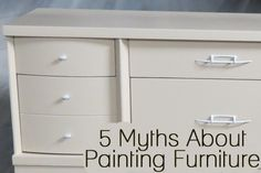 Many people are afraid to paint furniture because of the many widely held beliefs about furniture painting that just simply aren't true. Here are 5 of the myths that many people believe about furniture painting. 1. Furniture Painting is a LONG Arduous Task – Not necessarily. If you are all …
