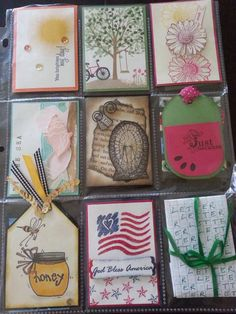 Summertime Pocket Letter by Kelly Brillhart for Splitcoast Swap