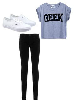 """""""casual"""" by alexa-barnes on Polyvore featuring AG Adriano Goldschmied, Vans, women's clothing, women's fashion, women, female, woman, misses and juniors"""