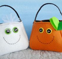 Monsters Puppets Felt Patterns Free | Sew Baby - Reindeer, Snowman, and Elf Holiday Bags E-pattern