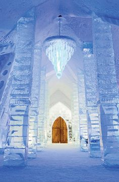 Stay in an ice hotel in Quebec, Canada. -- this is totally a dream destination. how cool.