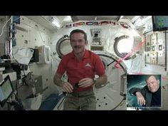 Chris Hadfield and William Shatner connect in CSA Tweetup - YouTube