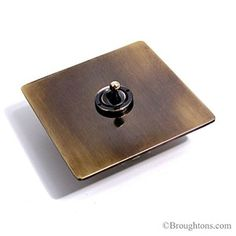 Brushed Brass Light Switches: Victorian Dolly Switch Hand Aged Brass,Lighting