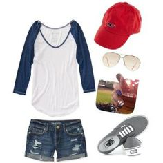 Baseball, summer date outfit by leta