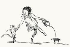 There was an old man on the border,  Who lived in the utmost disorder;  He danced with the cat, and made tea in his hat,  Which vexed all the folks on the border.    Edward Lear, from More nonsense, pictures, rhymes, botany, etc. London, 1872.
