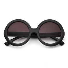 80's - half tint round frame sunglasses (more colors) - 80's | 80's Purple found on Polyvore