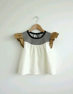 808a6e40d29 For baby  ) girls  cotton blouse with striped detail by swallowsreturn on  Etsy