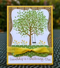 Krystal's Cards: Stampin' Up! Sheltering Tree Summer and Fall #stampinup #krystals_cards #shelteringtree #stampsomething #sendacard #handstamped #papercrafts