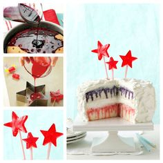 Red, White & Berry Poke Cake and Candy Stars from Taste of Home