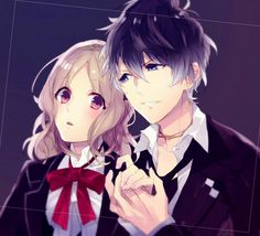 Diabolik Lovers ~ Haunted dark bridal ~ Ruki Mukami and Yui Komori ~ Diabolik Lovers, Ruki Mukami, Ayato Sakamaki, Vampires, Hot Guys, Black Butler Characters, Ppg And Rrb, Romance, Yui