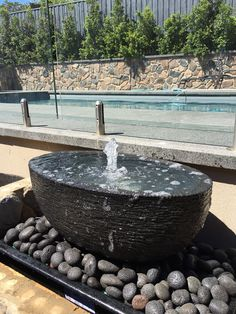 80cm oval bowl bubbler water feature Water Features, Natural Stones, Melbourne, Fountain, Tower, Garden, Outdoor Decor, Nature, Design