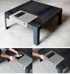 floppy disk table by axel van exel + marian neulant