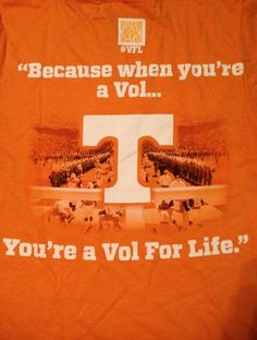 Because when your a vol your a vol for life!!! Love me some Tennessee football!!:)