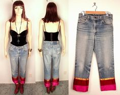 90s levi's boyfriend jeans // reconstructed by BexVintage on Etsy, $36.00