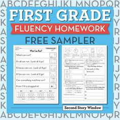 First Grade Fluency Freebie (5 weeks)