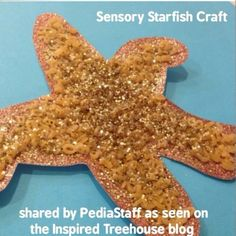 """LOVE THIS! Thank you to @inspiredtreehouse for this wonderful """"Sparkly Sensory Starfish"""" craft idea! Visit their blog for directions and materials: - - click on pin for more!    - Like our instagram posts?  Please follow us there at instagram.com/pediastaff"""