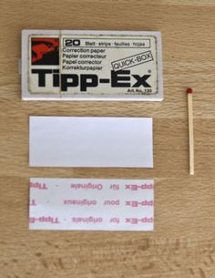 Tippex paper - I went through this like water