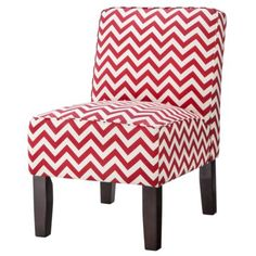 Burke Slipper Chair-Chevron $119 from Target (Could go in the 'conversation space' portion of our movie room it's red and white!)