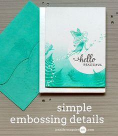 Embossing Details Cards Video tutorial