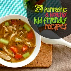29 Funtastic & Healthy Kid- Friendly Recipes-some of these are great ideas that look fun & are healthy just replace dairy with dairy free. diet plan for picky eaters Healthy Meals For Kids, Healthy Foods To Eat, Kids Meals, Healthy Snacks, Healthy Eating, Healthy Recipes, Healthy Kid Friendly Recipes, Healthy Drinks, Health Foods
