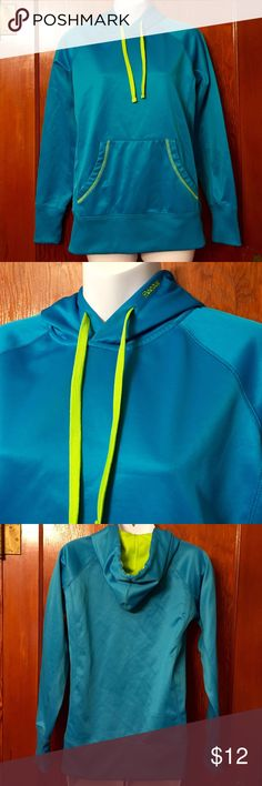 Reebok Women's Hooded Sweatshirt Good condition! Teal and lime green, size small, no stains or defects. Reebok Tops Sweatshirts & Hoodies