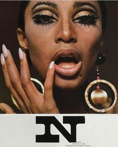 LUNA ECLIPSE 1966 ⚡️ Pat McGrath Labs inspiration for the NEW LUST: LuxeTrance lipstick shade 'LABEIJA'. Photography by Charlotte March starring the DIVINE Donyale Luna in a 1966 issue of Twen magazine | 60s Beauty + Style