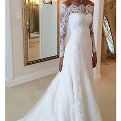 Wonderful Perfect Wedding Dress For The Bride Ideas. Ineffable Perfect Wedding Dress For The Bride Ideas. Lace Bridal, Bridal Gowns, 2016 Wedding Dresses, Dress Wedding, Dresses 2016, Wedding Ceremony, Party Dresses, Lace Sleeve Wedding Dress, Bridesmaid Dresses