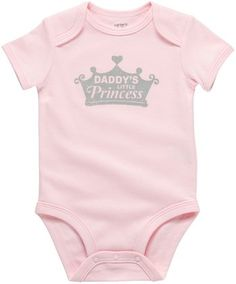 """""""Daddy's Little Princess."""" Carter's Wiggle In Bodysuit"""