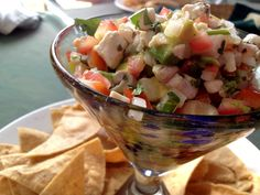 Ceviche a'la Sayulita 1 lb prawns, shelled, cleaned and cut into 1/2″ pieces 2 limes 2 Roma tomatoes, finely diced ½ cup fresh cucumber, finely diced 1 jalapeno, minced 1/4 onion, minced 1 garlic clove, minced 1/4 cup fresh cilantro, chopped Pinch Kosher/sea salt and freshly ground black pepper, to taste Combine all of the ingredients with the juice from two limes. Refrigerate about 15 minutes to allow the flavors to blend. Serve and enjoy! Serve with sliced avocado if you wish.