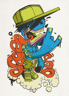 Graffiti style vector art. <3