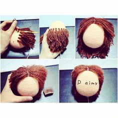 I m a hairdresser. #handmade #craft #crochet #diy #doll #amigurumi #hairstyle #howto