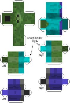 Minecraft Mob - Printable Cut Out Characters ~ FPSX Games