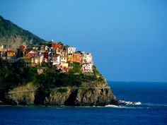 One of my most favorite places on earth is Cinque Terre, Italy. Pictured here is the town of Corniglia in Cinque Terre.