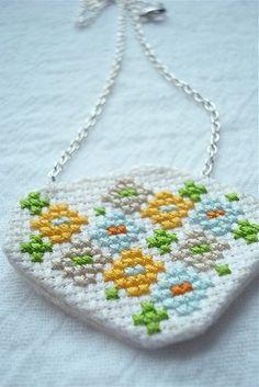 cross stitch jewelry cross-stitch-embroidery