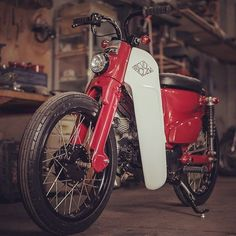 The Bloodhound:  Honda C70 #StreetCub by @revoltcycles based on the most-produced motor vehicle in history (Super Cub). : @the.jeb :: #hondacub #c70 #c100 #supercub #streetcub #caferacer #underbone