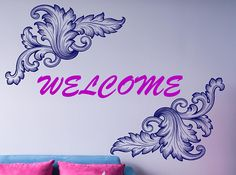 Welcome Sign Wall Decal, House Warming Gift, Wedding Sign Decor, Monogram Decal, Personalized Name Decor, Wedding Gift Favor, Welcome nm147#weddings #weddingplanning #mrandmrs #walldecal #weddinggifts #weddingpresent #customnamedecor #customtext #housedecor #roomremodel #diyproject #diy #weddingart #roomart #roomdecor
