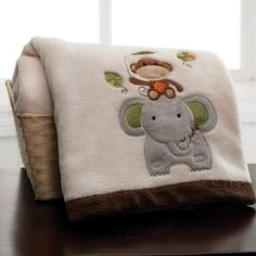 Kids Line Jungle Walk Embroidered Boa Blanket $17.59
