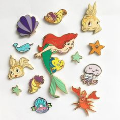 Mermaid themed pins / winkpins