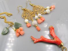 Lot 3 - Coral, Jade, Mother of Pearl Jewelry
