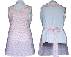 Plus size Apron  Pink flowers on Pink full by timelessaprons