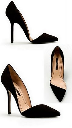 can't resist a seductive black heel ZARA | Asymmetric Court Shoes
