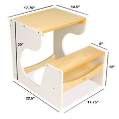 Children Desk - White - by Pkolino - Baby Nation the Online Baby Shop Wooden Projects, Furniture Projects, Furniture Plans, Kids Furniture, Furniture Design, Furniture Cleaning, Funky Furniture, Woodworking Furniture, Plywood Furniture