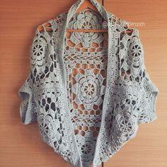 DIY: Blusa e bolero de crochê   Look   Moda   Fashion   Dresses   Casaquinho de Crochê   De Frente Para o Mar