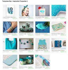 Beautiful creations from ETSY - It's all about Turquoise...  De très belles créations à découvrir sur ETSY - Sur le thème du Turquoise...