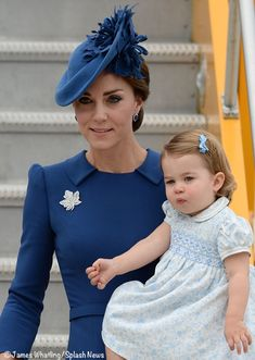 Catherine, Duchess of Cambridge and Princess Charlotte arriving in Canada , 2016
