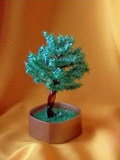 Tree from recycled plastic bottle